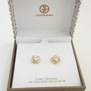 Take 50% off!  CZ 18k gold over 925 Silver (E45)